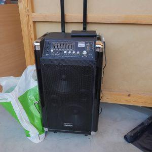 Boombox m batteri mic